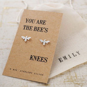Bees Knees Silver Earrings - gifts for friends