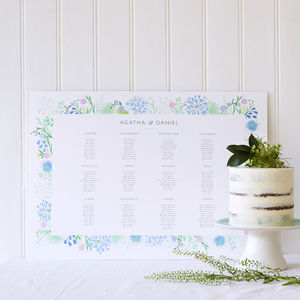 Bespoke Table Plan - room decorations