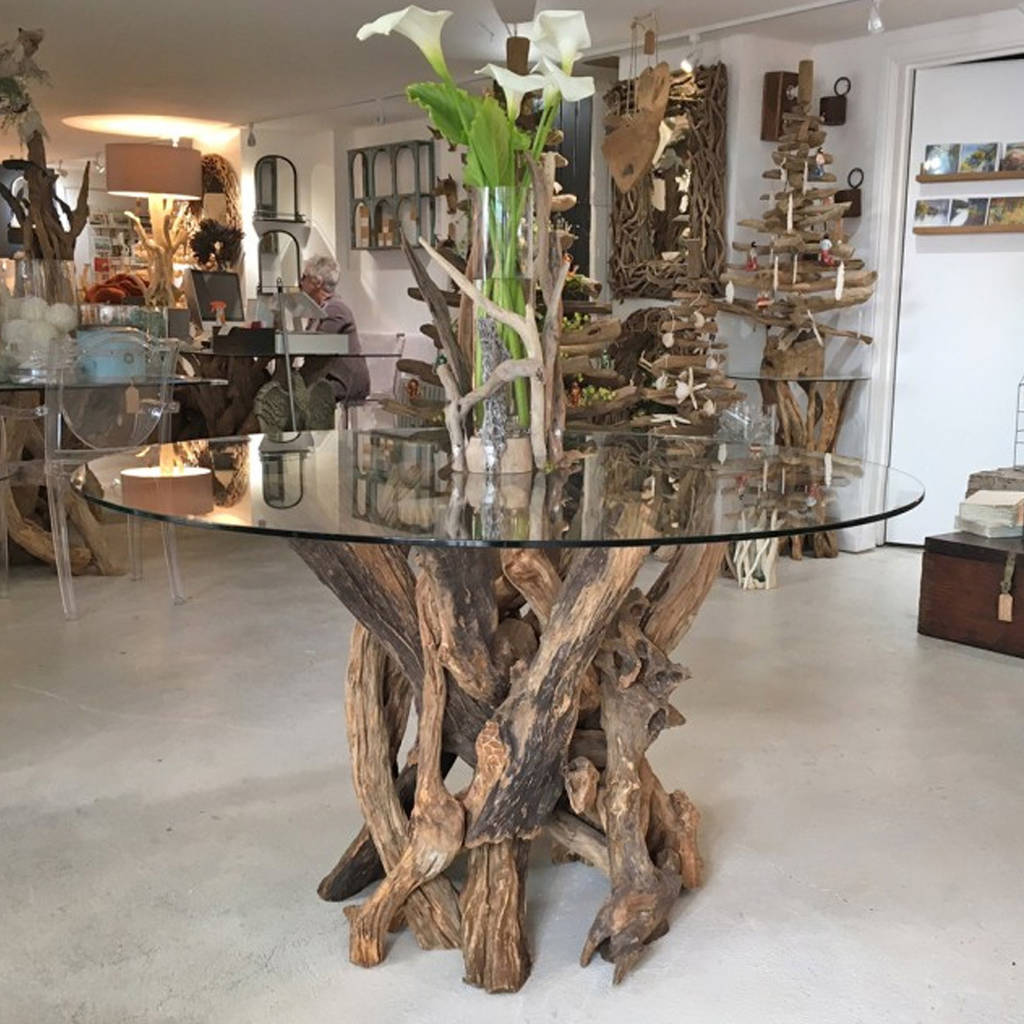 Driftwood Round Dining Table Base By Doris Brixham