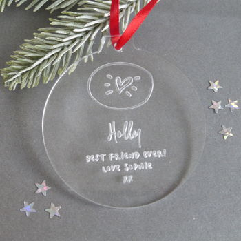 Personalised Gift For Friends Christmas Bauble