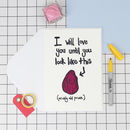 Wrinkly Prune Funny Anniversary Card