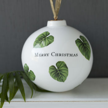 Botanical bauble With your own choice of text