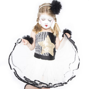 Littlekit Pierrot Tutu And Top - fancy dress
