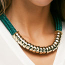 Classic Emerald Statement Necklace