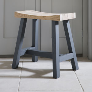 Clockhouse Stool In Charcoal Oak