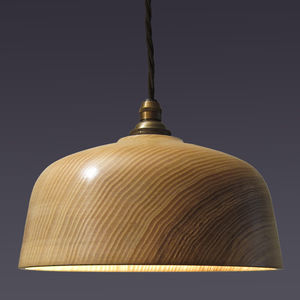 Loft Bell Wooden Ceiling Pendant Light - living room