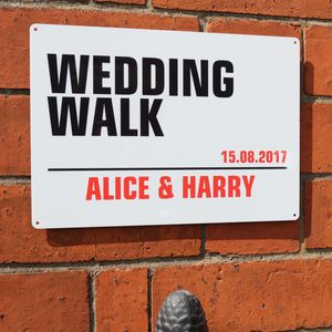 Personalised 'Wedding Walk' Street Sign - room decorations