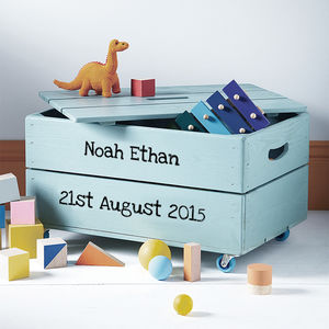 Personalised Toy Crate - best gifts for boys