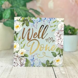 Well Done Botanical And Gold Greeting Card