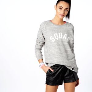 Squad Gym Organic Cotton Blend Marl Sweatshirt - lounge & activewear