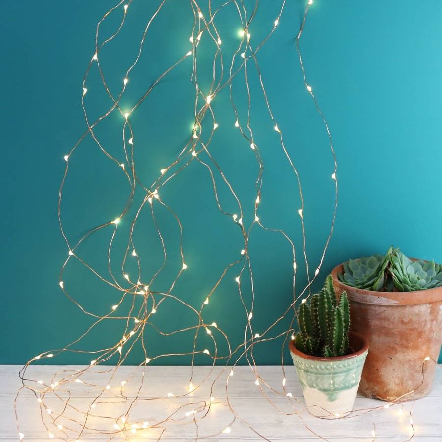copper wire waterfall string lights 320 led by lisa angel homeware ...