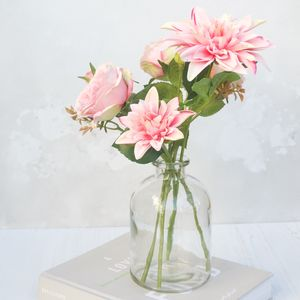 Real Touch Bouquet In Bell Vase - new in home
