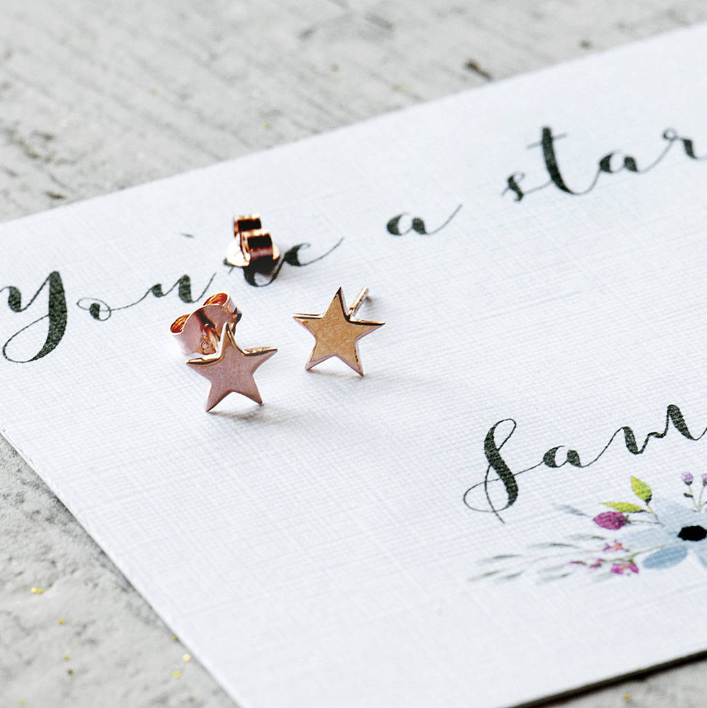 Personalised You're A Star Stud Earrings