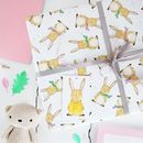 New Baby Rabbit Wrapping Paper Set