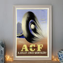 Vintage A.C.F Grand Prix Art Deco Car Poster