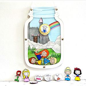 Personalised Princess Castle Reward Jar - new in prints & art