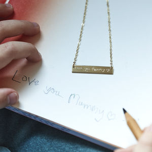 Personalised Your Child's Handwriting Necklace - best mother's day gifts