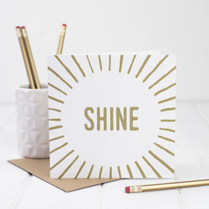 Good Luck Encouragement Card - shop by category