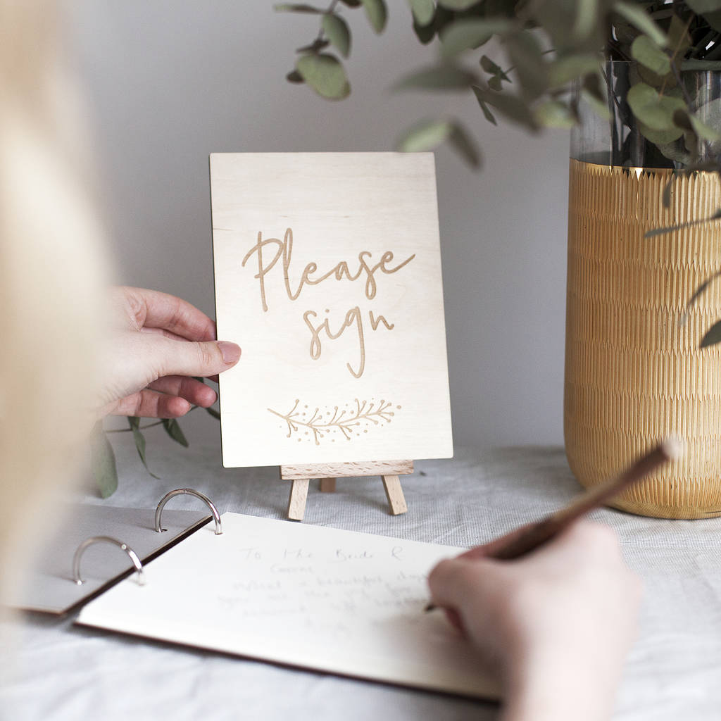 guest book table sign by clouds and currents | notonthehighstreet.com