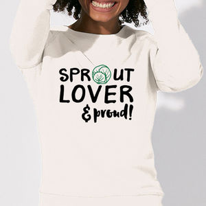 'Sprout Lover And Proud' Christmas Slogan Jumper