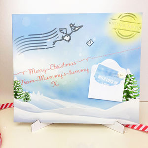 Baby's 1st Christmas Postcard ' From Mummy's Tummy' - shop by category