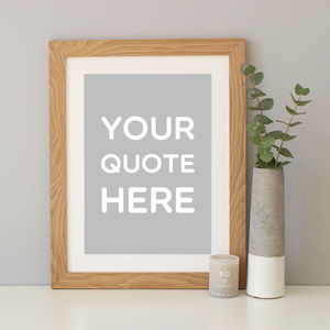 Personalised Typography Quote Print