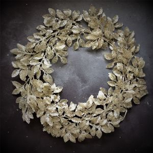 Contemporary Silver Leaf Christmas Wreath