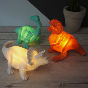 Mini LED Origami Dinosaur Lamp - bedside lamps