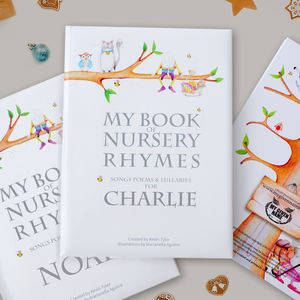 Deluxe Personalised Nursery Rhyme Book - baby toys