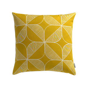 Rosette Yellow Cushion Cover - cushions