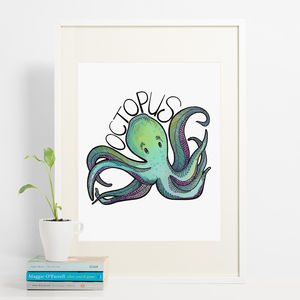 Octopus Print - children's pictures & paintings