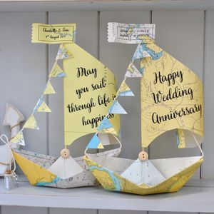 Personalised Sail Boat Card