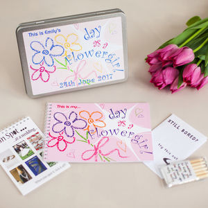 Personalised Flowergirl Wedding Activity Pack - wedding day activities