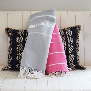 Hamam Cotton Strippy Sofa Throw
