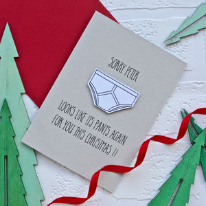 Christmas Pants Card - cards