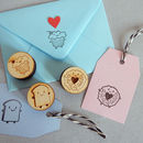 Kawaii Cupcake, Bread Slice And Jammie Dodger Stamp Set