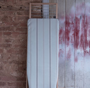 Eastnor Grey Stripe Organic Ironing Board Cover