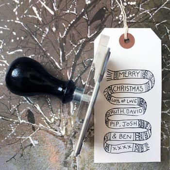 Personalised 'Christmas Scarf' Stamp