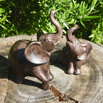 Set Of Two Elephant Sculptures