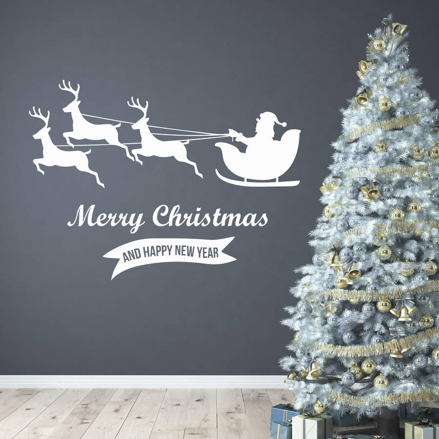 Merry Christmas Wall Stickers By Wall Art Quotes Amp Designs