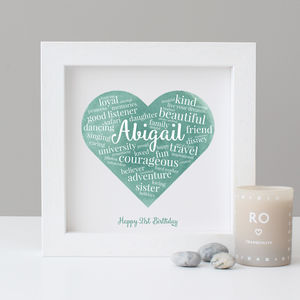Personalised Watercolour 21st Birthday Gift