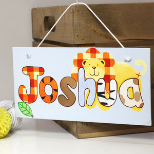 Personalised Jungle Lion Canvas Sign - new in