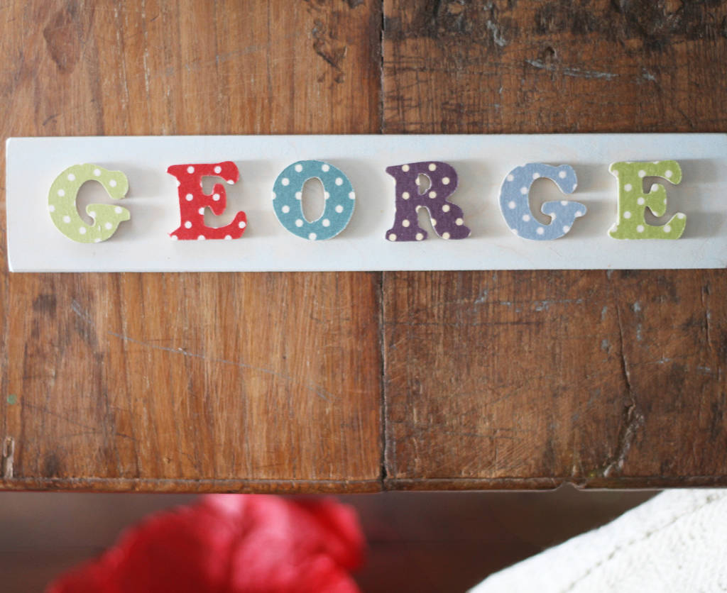 Personalised Children 39 S Wooden Name Plaque By Loula And