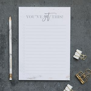 'You've Got This' Motivational A5 Notepad