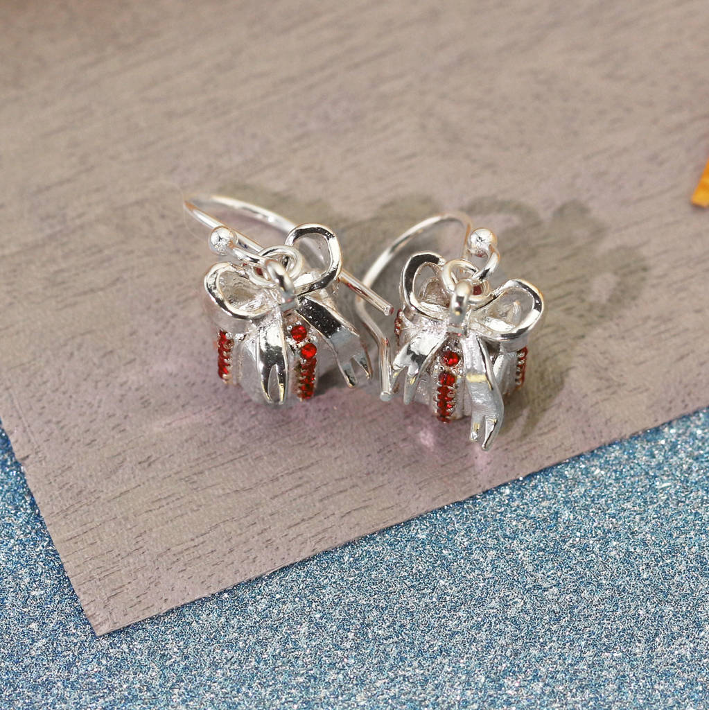 Sterling silver christmas present earrings by lushchic for Sterling silver christmas jewelry