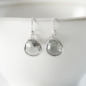 Little Silver Raindrop Earrings - earrings
