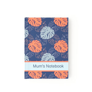 Tropical Leaf Personalised Notebook