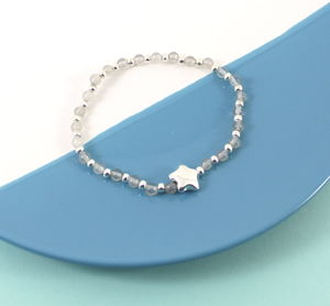 Smokey Quart Star Friendship Bracelet - bracelets & bangles