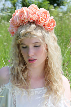 Lana Oversized Peony Flower Crown
