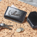 Personalised Leather Credit Card Case